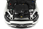 Car Stock 2021 Mercedes Benz E-Class AMG-Line 5 Door Wagon Engine  high angle detail view
