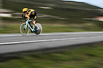 Paul Martens (GER) Team Jumbo-Visma in action during Stage 13 of the Vuelta Espana 2020 an individual time trial running 33.7km from Muros to Mirador de Ézaro. Dumbría, Spain. 3rd November 2020. <br /> Picture: Unipublic/Charly Lopez | Cyclefile<br /> <br /> All photos usage must carry mandatory copyright credit (© Cyclefile | Unipublic/Charly Lopez)