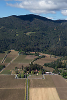 aerial photograph of the Inglenook Winery, Rutherford, Napa County, California