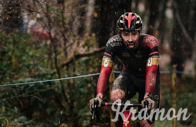 rainsoaked Laurens Sweeck (BEL/Pauwels Sauzen-Bingoal)<br /> <br /> Men's Race at the X2O Herentals Cross 2020 (BEL)<br /> <br /> ©kramon