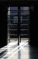 Shadows fall from one of the many turnstiles at the Cardiff City Stadium prior to kick off of the Sky Bet Championship match between Cardiff City and Aston Villa at The Cardiff City Stadium, Cardiff, Wales, UK. Monday 02 January 2017