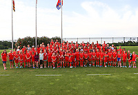Boyds, MD - Saturday July 02, 2016: Washington Spirit youth teams during a regular season National Women's Soccer League (NWSL) match between the Washington Spirit and FC Kansas City at Maureen Hendricks Field, Maryland SoccerPlex.