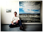 Artist David King pictured here in his Dublin studio taking a break from his work. Pic. Robbie Reynolds