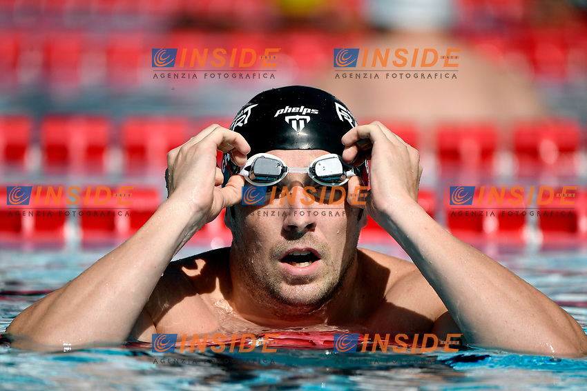 Marco Koch of Germany reacts after competing in the men 100m breaststroke during the 58th Sette Colli Trophy International Swimming Championships at Foro Italico in Rome, June 25th, 2021. Marco Koch placed fifth in his heat.