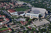 aerial photograph of Texas Christian University including the Amon G. Carter TCU Football Stadium and the Schollmacher Arena, Fort Worth, Texas