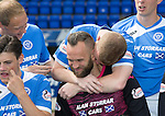 St Johnstone FC photocall Season 2016-17<br />Brian Easton and Alan Mannus having fun before the photocall<br />Picture by Graeme Hart.<br />Copyright Perthshire Picture Agency<br />Tel: 01738 623350  Mobile: 07990 594431