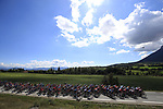 The peloton take it easy during Stage 5 of Tour de France 2020, running 183km from Gap to Privas, France. 2nd September 2020.<br /> Picture: Bora-Hansgrohe/BettiniPhoto   Cyclefile<br /> All photos usage must carry mandatory copyright credit (© Cyclefile   Bora-Hansgrohe/BettiniPhoto