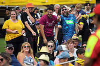 Fansa watch the Super Rugby Aotearoa preseason match between the Hurricanes and Blues at Maidstone Park in Upper Hutt, New Zealand on Saturday, 13 February 2020. Photo: Dave Lintott / lintottphoto.co.nz