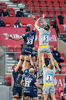 27th December 2020; AJ Bell Stadium, Salford, Lancashire, England; English Premiership Rugby, Sale Sharks versus Wasps; James Gaskell of Wasps wins a line out
