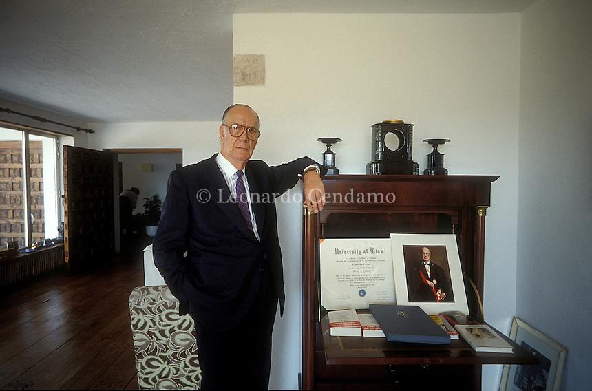 Madrid, Spain, 1991. Camilo Jos© Cela, Spanish writer. 1989 Nobel Prize in Literature. ¬© Leonardo Cendamo