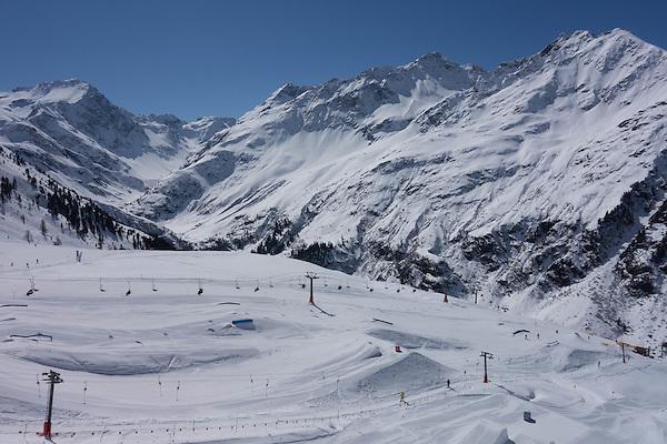Rendl Ski Area at St Anton, Austria,