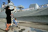 """- Italian Navy, the """"Libeccio"""" frigate sails from the port of La Spezia....- Marina militare italiana, la fregata """"Libeccio"""" salpa dal porto di la Spezia"""