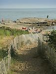Madison Beach and rocky peninsula.