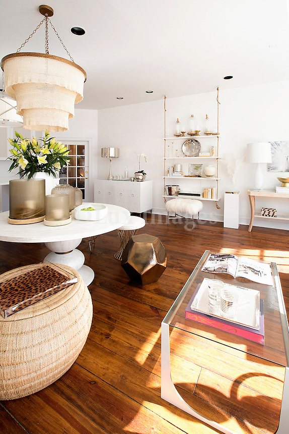 white round table Get A Room is a boutique in Scarsdale New York for interior design.