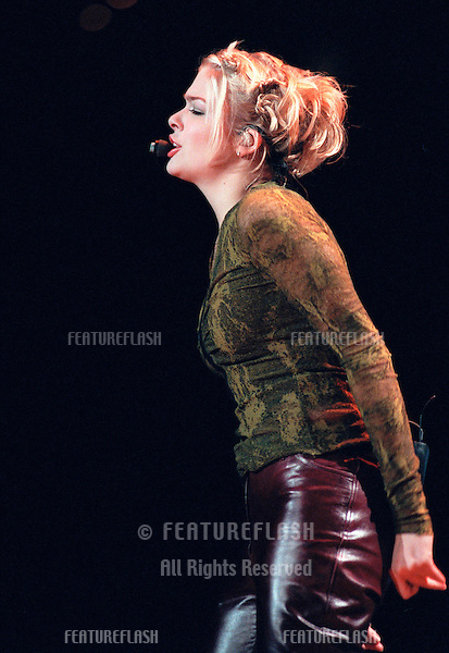 """29OCT99: Country star LeANN RIMES on stage at the MGM Grand, Las Vegas, for her concert staged by new internet company Pixelon.com as part of their """"iBash99"""".    .© Paul Smith / Featureflash"""