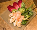 Shrimp Appetizer, Thiou Restaurant, Paris, France, Europe