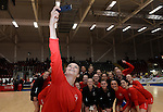 Wales Nia Jones takes a selfie <br /> <br /> Swansea University International Netball Test Series: Wales v New Zealand<br /> Ice Arena Wales<br /> 08.02.17<br /> ©Ian Cook - Sportingwales