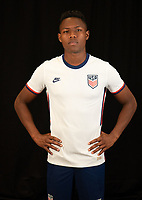 Andres Perea during a studio shoot for the U-23 USMNT Olympic Qualifying Team.