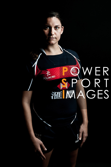 Amelie Seure poses during the Hong Kong 7's Squads Portraits on 5 March 2012 at the King's Park Sport Ground in Hong Kong. Photo by Andy Jones / The Power of Sport Images for HKRFU