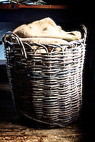 Wicker basket and sails at the Shipreck Museum, Warrnambool