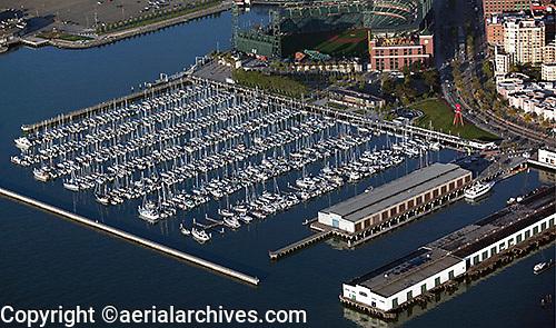 aerial photograph of South Beach Marina, San Francisco, California