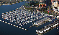 aerial photograph of South Beach Marina, San Francisco, California