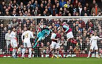Barclays Premier League, West Ham United (red)V Swansea City Fc (white), Boelyn Ground, 02/02/13<br /> Pictured: Swans keeper Gehard Tremmel is forced to make a save<br /> Picture by: Ben Wyeth / Athena Picture Agency<br /> info@athena-pictures.com