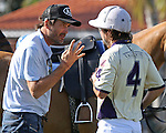 WELLINGTON, FL - FEBRUARY 12:  10 goaler, Adolfo Cambiaso coaches Diego Cavanagh #4 of Valiente II during Sunday's Feature Match vs Coca Cola of the Ylvisaker Cup, at the International Polo Club, Palm Beach on February 12, 2017 in Wellington, Florida. (Photo by Liz Lamont/Eclipse Sportswire/Getty Images)