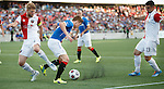 Lewis Macleod turns on the ball in the box dragging it away from the Fury defenders and passing to Nicky Law to score