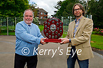 James Finnegan receives the Tralee Toastmaster Award of the year from out going president Sergey Udaltsov. L to r: James Finnegan and Sergey Udaltsov