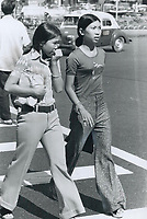1972 FILE PHOTO -<br /> <br /> Vietnamese teenagers love jeans; shirts; wooden clogs; Canadians have noted contrast between the old and the new lifestyles in Saigon