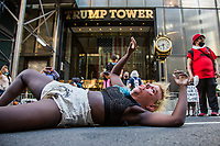 Black Lives Matter mural painted in front of Trump Tower in NYC