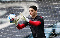 Max O'Leary of Bristol City warming up during Millwall vs Bristol City, Sky Bet EFL Championship Football at The Den on 1st May 2021