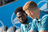 Nathan Dyer of Swansea City travels but plays no part in the match during the 2017/18 Pre Season Friendly match between Barnet and Swansea City at The Hive, London, England on 12 July 2017. Photo by Andy Rowland.
