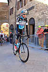 Pieter Serry (BEL) Etixx-Quick Step makes his way to sign on before the start of the 2015 Strade Bianche Eroica Pro cycle race 200km over the white gravel roads from San Gimignano to Siena, Tuscany, Italy. 7th March 2015<br /> Photo: Eoin Clarke www.newsfile.ie