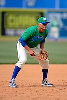 Lexington Legends third baseman Nic Cuckovich #21 during practice before a game against the Greenville Drive on April 18, 2013 at Whitaker Bank Ballpark in Lexington, Kentucky.  Lexington defeated Greenville 12-3.  (Mike Janes/Four Seam Images)