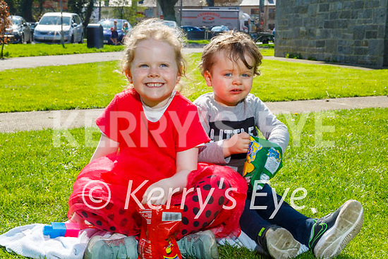 Enjoying their picnic in the Listowel town park on Good Friday, l to r: Kate and James O'Mahoney.