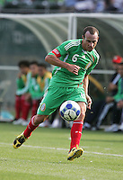 Gerardo Torrado dribbles the ball. Mexico defeated Nicaragua 2-0 during the First Round of the 2009 CONCACAF Gold Cup at the Oakland, Coliseum in Oakland, California on July 5, 2009.