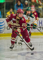 20 February 2016: Boston College Eagle Defenseman Michael Kim, a Freshman from Toronto, Ontario, in second period action against the University of Vermont Catamounts at Gutterson Fieldhouse in Burlington, Vermont. The Eagles defeated the Catamounts 4-1 in the second game of their weekend series. Mandatory Credit: Ed Wolfstein Photo *** RAW (NEF) Image File Available ***