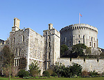 The Round Tower of Windsor Castle in the English county of Berkshire.