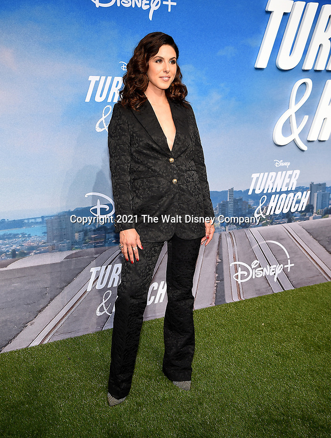 """LOS ANGELES, CA - JULY 15: Cristina Rosato attends a premiere event for the Disney+ original series """"Turner & Hooch"""" at Westfield Century City on July 15, 2021 in Los Angeles, California. (Photo by Frank Micelotta/Disney+/PictureGroup)"""