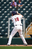 Fort Myers Miracle third baseman Chris Paul (18) at bat during a game against the St. Lucie Mets on August 9, 2016 at Hammond Stadium in Fort Myers, Florida.  St. Lucie defeated Fort Myers 1-0.  (Mike Janes/Four Seam Images)