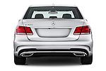 Straight rear view of a 2014 Mercedes E350 Sedan