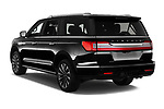 Car pictures of rear three quarter view of 2020 Lincoln Navigator Reserve-L 5 Door SUV Angular Rear