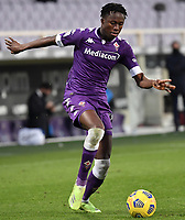 Christian Kouame of ACF Fiorentina in action during the Italy Cup round of 16 football match between ACF Fiorentina and FC Internazionale at Artemio Franchi stadium in Firenze (Italy), January 13th, 2021. Photo Andrea Staccioli / Insidefoto