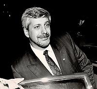 PQ Leader Pierre-Marc Johnson<br /> <br /> 1985<br /> <br /> PHOTO : Boris Spremo - Toronto Star Archives - AQP