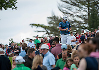 24.05.2015. Wentworth, England. BMW PGA Golf Championship. Final Round.  Byeong Hun An [KOR] starts the day tied first with Francesco Molinari [ITA]. Byeong Hun An [KOR] walks off the second green during the final round of the 2015 BMW PGA Championship from The West Course Wentworth Golf Club