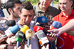 01.06.2012. Arrival of the players in the Spanish football team squad for the European Championship in Poland and Ukraine to the Ciudad del Futbol of Las Rozas, Madrid. In the image Santi Cazorla.(Alterphotos/Marta Gonzalez)