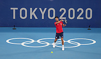 210721 -- TOKYO, July 21, 2021 -- Novak Djokovic of Serbia attends a training session prior to the Tokyo 2020 Olympic Games, Olympische Spiele, Olympia, OS at Ariake Tennis Park in Tokyo, Japan, on July 21, 2021.  TOKYO2020 JAPAN-TOKYO-OLY-TENNIS-DJOKOVIC-TRAINING DuxXiaoyi PUBLICATIONxNOTxINxCHN<br /> Photo Imago / Insidefoto ITALY ONLY