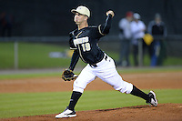 Central Florida Knights pitcher Vinnie Rosace (19) during the season opening game against the Siena Saints at Jay Bergman Field on February 14, 2014 in Orlando, Florida.  UCF defeated Siena 8-1.  (Mike Janes/Four Seam Images)